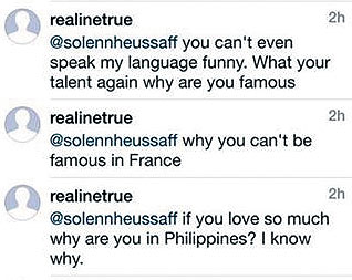 Solenn Heussaff argues with basher regarding Davao bombing