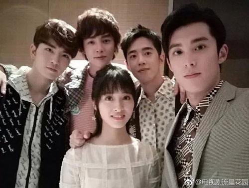 Wonderful ... Dylan Wang As Dao Ming Si, Meteor Garden Creator Angie Chai, Shen Yue  As Shan Cai, Darren Chen As Hua Ze Lei, And Caesar Wu As Xi Men