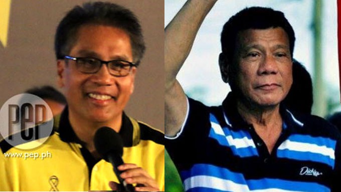 Image result for Mar Roxas and Duterte