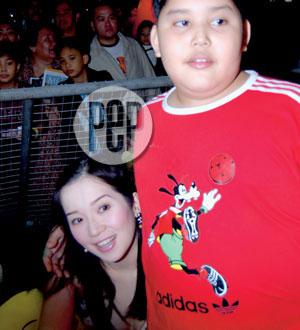 Joshua accompanied his mom Kris Aquino in one of her showbiz events