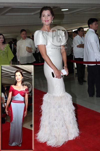 Filipiniana Terno Dress http://www.pep.ph/photos/3165/red-carpet-part-2-filipiniana-takes-centerstage-at-sona-2012