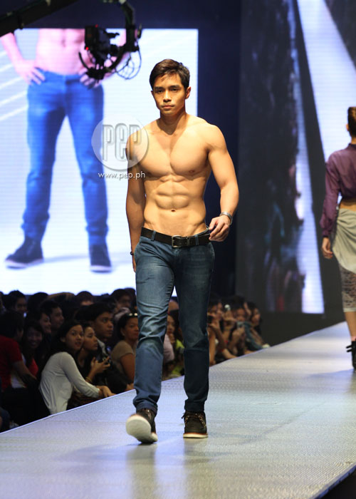 Bench 2013 Summer Fashion Show muscles at the denim show