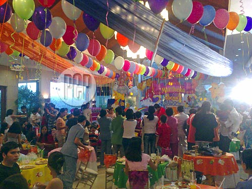 Marthena jickain 39 s first birthday party gallery for The grand terrace quezon city