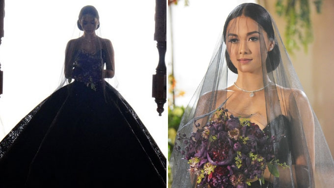 Black Wedding Gown: Maja Salvador Shocks With Black Wedding Gown In Wildflower