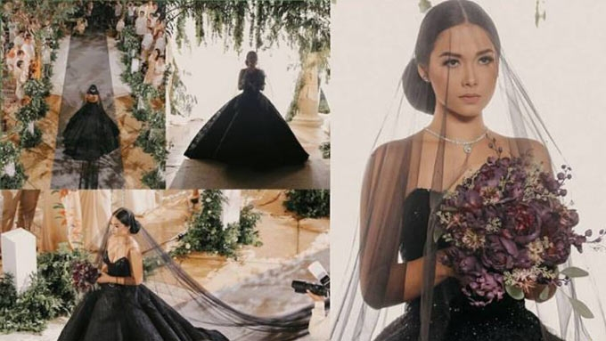 Why Maja Salvadors Ivy Aguas Wore A Black Wedding Gown In