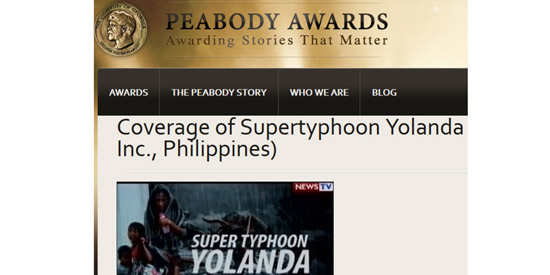 GMA News wins Peabody Award for coverage of supertyphoon Yolanda