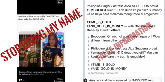 16f2c2643 - Aiza Seguerra slams Emgoldex for using him in its false advertisements - Philippine Daily News