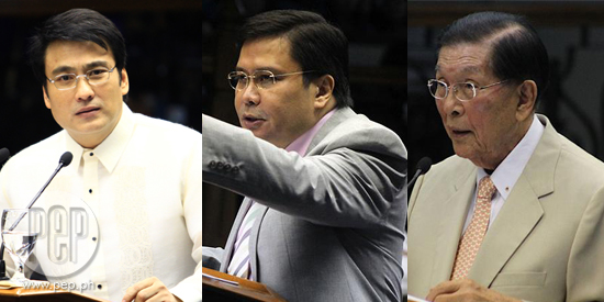 Ombudsman recommends filing of plunder charge against Senators Enrile, Revilla, Estrada
