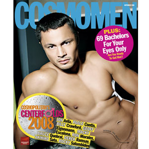 The 28-year old actor graces the cover of Cosmo Men this year!
