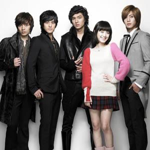 The cast of the Koreanovela Boys Over Flowers.