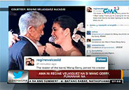 Regine Velasquez mourns the loss of her father Mang Gerry