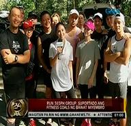 Heart Evangelista, Sen. Chiz Escudero, etc. form 6 A.M. jogging group
