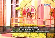 "Ryzza Mae Dizon wins ""Best Child Performer"" in 26th Aliw A"