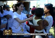Marian Rivera helps GMA Kapuso Foundation distribute relief goods