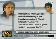 Gov. Vilma Santos thanks bashers for pointing out grammar errors