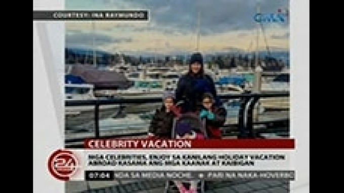 Celebs in their out-of-the country holiday vacation