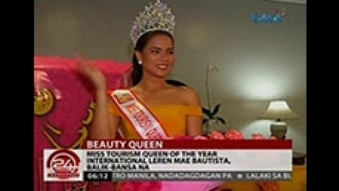Latest international pageant winner back in the Philippines