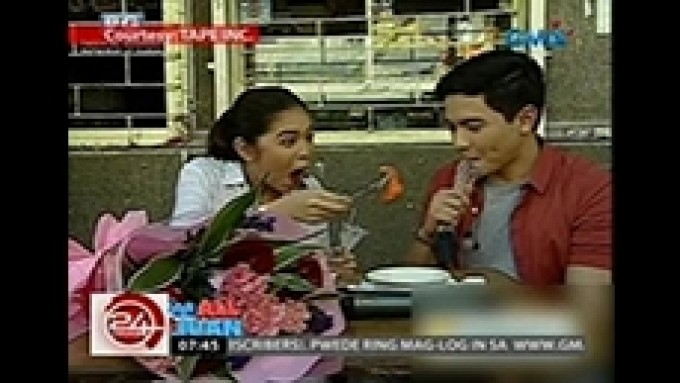 Alden and Yaya Dub spend weeksary early