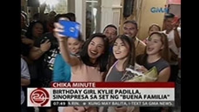 Kylie Padilla gets birthday surprise on <em>Buena Familia</em> set