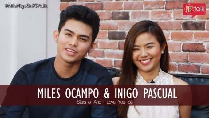 Inigo Pascual and Miles Ocampo on PEP TALK