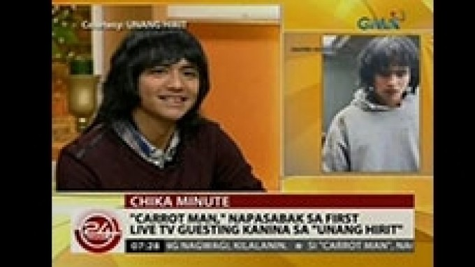 The celebrity Carrot Man Jeyrick Sigmaton wants to meet