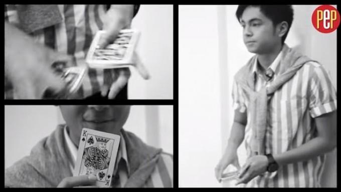 """Miguel Tanfelix shows """"magic"""" card trick"""