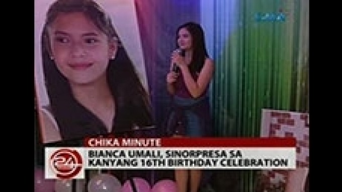Bianca Umali gets surprise birthday party from fans