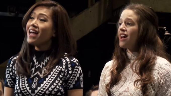 Rachelle Ann Go rehearses with Les Miserables Manila cast