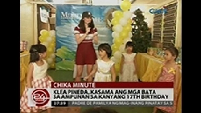 Klea Pineda celebrates birthday party with orphans