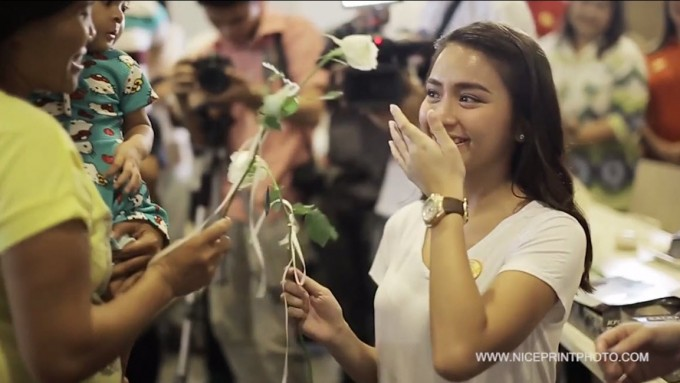 Emotional Kathryn celebrates with foundation she supports