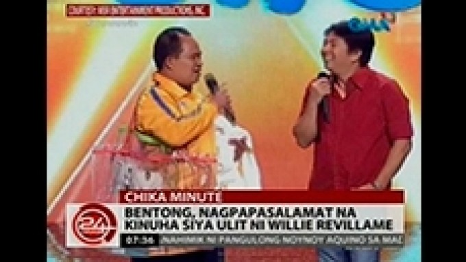 Bentong is back with Willie Revillame