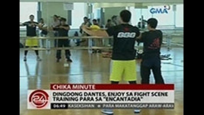 Dingdong Dantes undergoes fight training