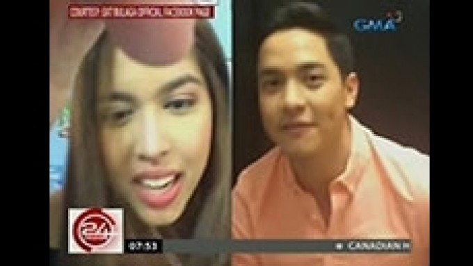 Maine Mendoza and Alden Richards on FB Live