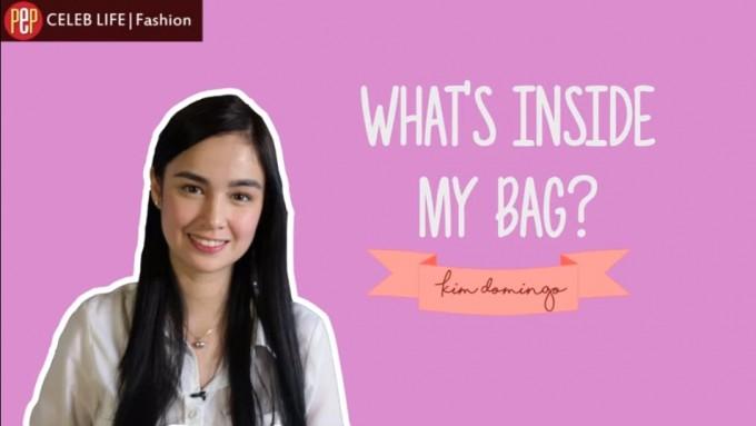 What's inside Kim Domingo's bag?