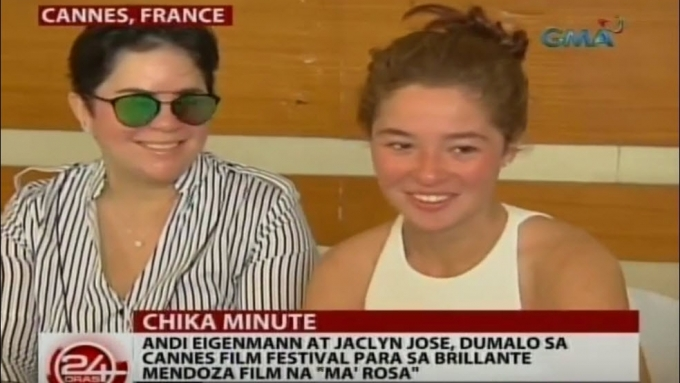 Andi Eigenmann and Jaclyn Jose in Cannes