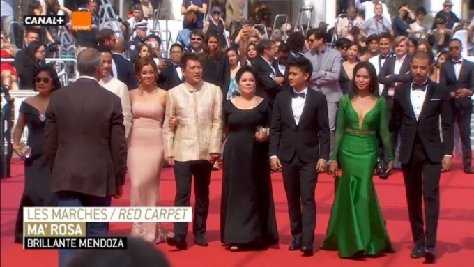 'Ma' Rosa' cast and director at the Cannes filmfest 2016