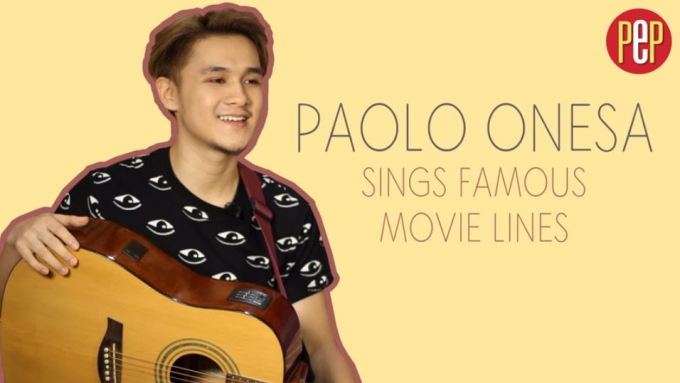 Paolo Onesa sings famous movie lines