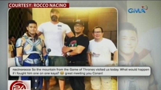 'The Mountain' visits Encantadia set