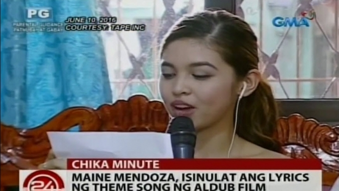Maine Mendoza writes words of theme song for AlDub movie
