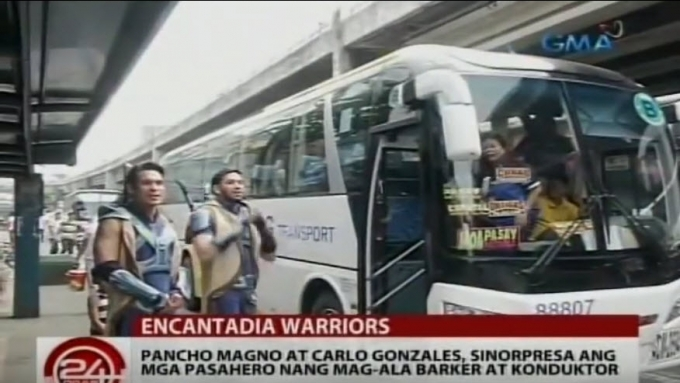 Pancho Magno, Carlo Gonzales as bus 'warriors'