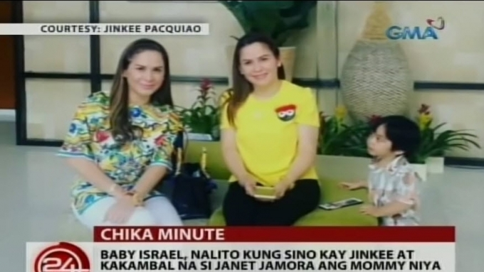 Baby Israel Pacquiao chooses between Jinky and Janet