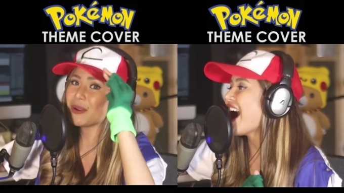 Myrtle Sarrosa sings the Pokémon theme song