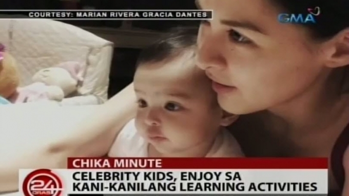 These celebrity kids enjoy their learning activities