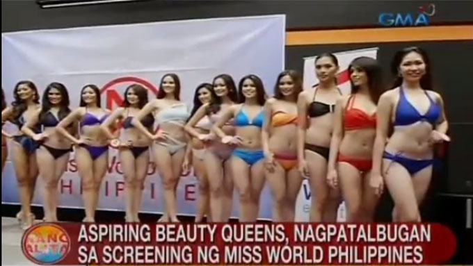 Miss World Philippines aspirants show off during screening