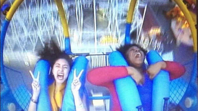 WATCH: Kim Chiu enjoys thrilling ride in Coney Island