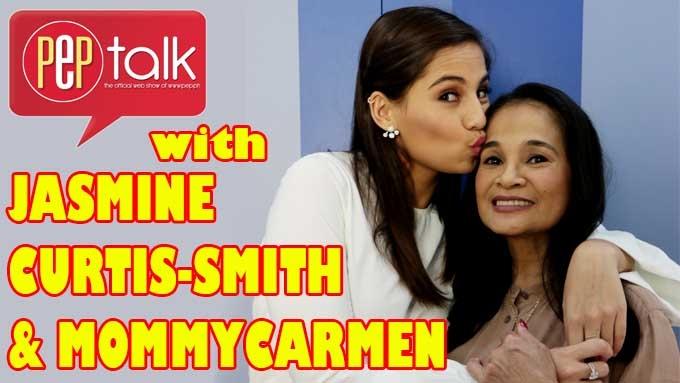 PEP TALK. Mommy Carmen and Jasmine Curtis-Smith