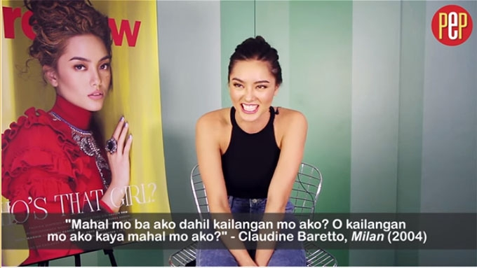 Lauren Reid recites Tagalog movie lines