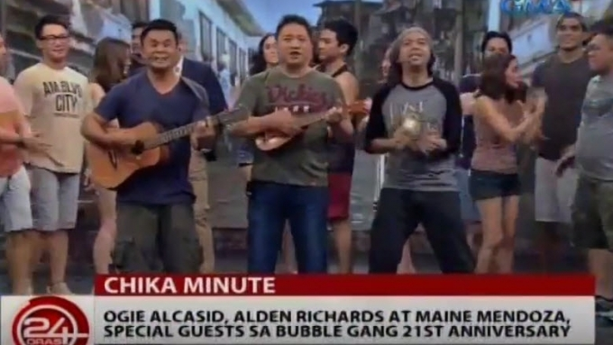 Ogie Alcasid appears as guest on Bubble Gang tonight