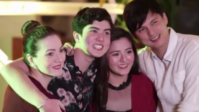 Mavy and Cassy's 16th birthday with family and friends