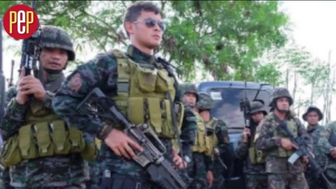 Matteo trains with real-life SAF agents in new movie